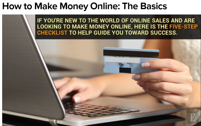Making Money Online ~ The Basics