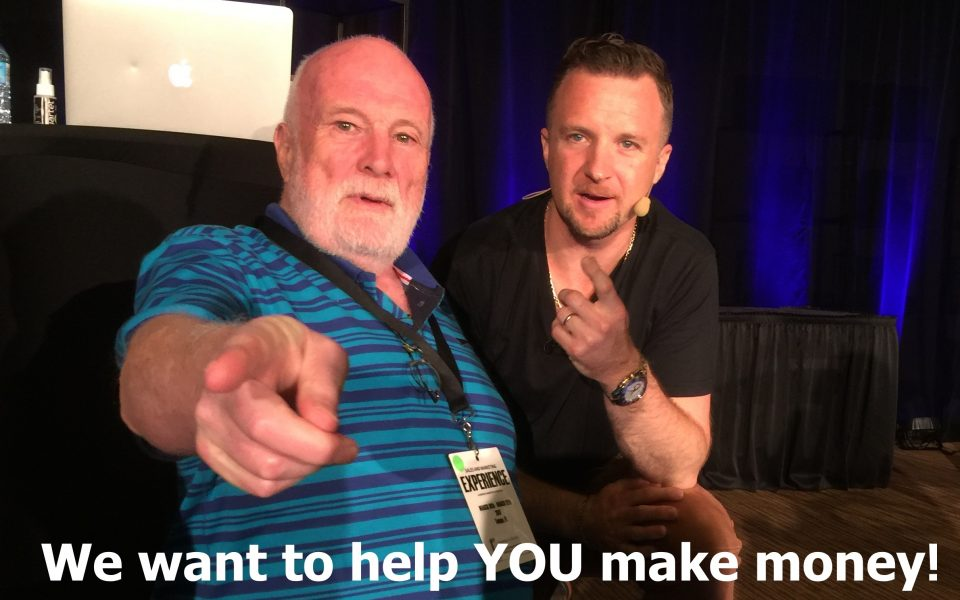 Dave Sharpe and Graham Frame in Tampa helping others get started making money online.
