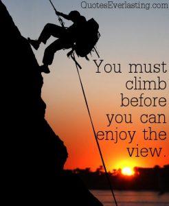 climb to view