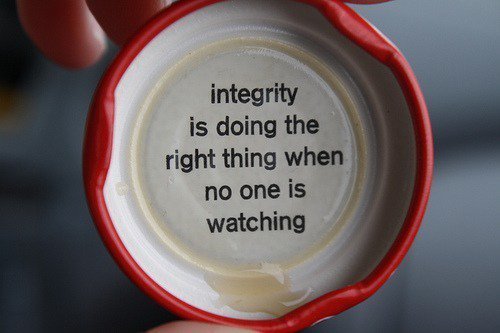 Only For Those With Good Character and Integrity