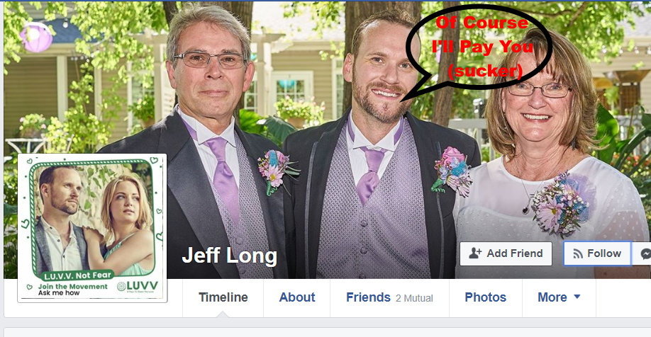 Jeff Long – Beware Of This Scammer.