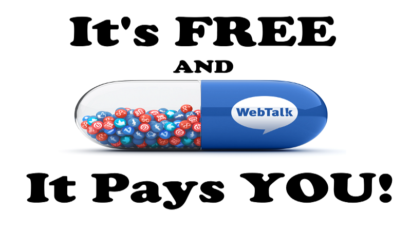 WebTalk – Pays You – It's Like Facebook And LinkedIn Combined Sharing Their Profits
